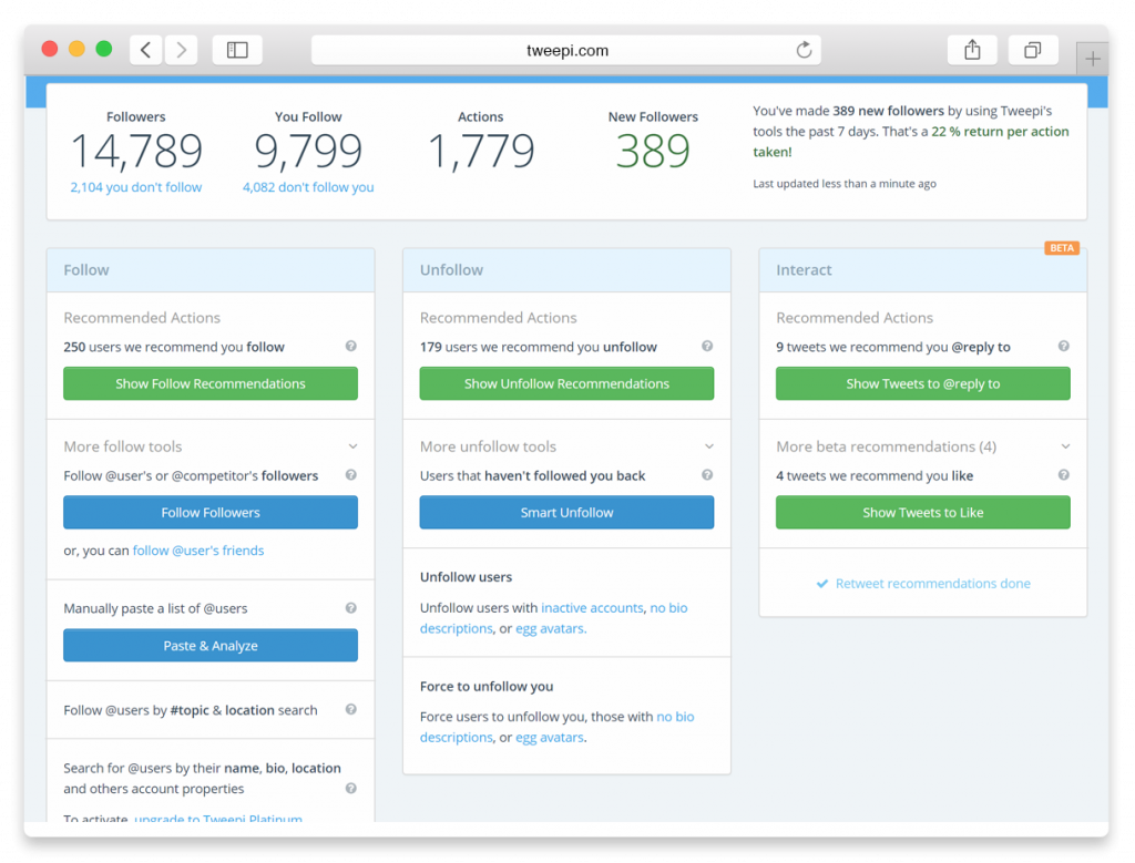 Search For Influencers On Tweepi