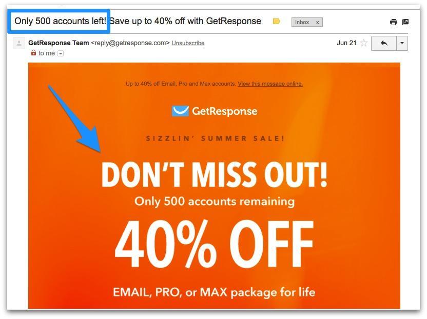 email marketing fomo
