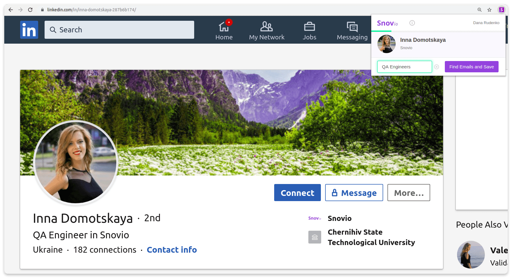 How to get contact details from a single LinkedIn profile