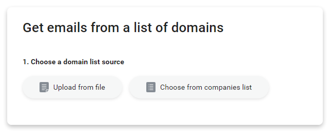 get emails from a list of domains