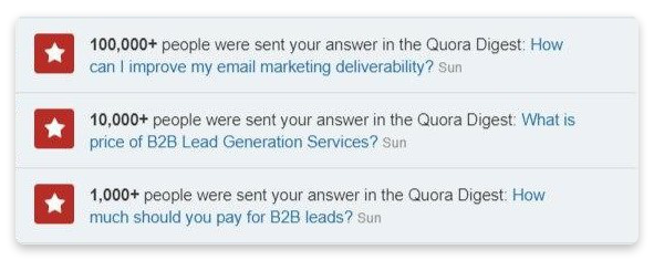 Quora digest example
