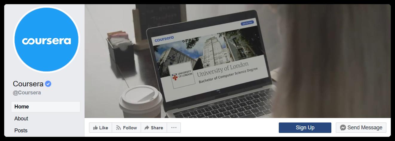 coursera facebook