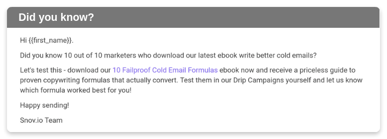 Content email