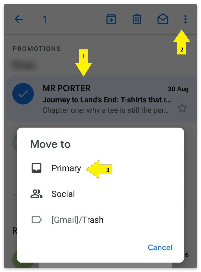 move emails to primary tab in gmail