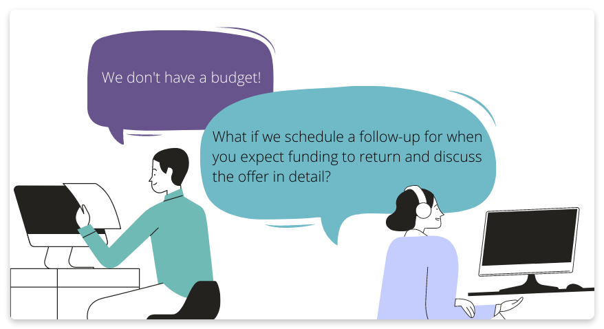 Sales objection about budget