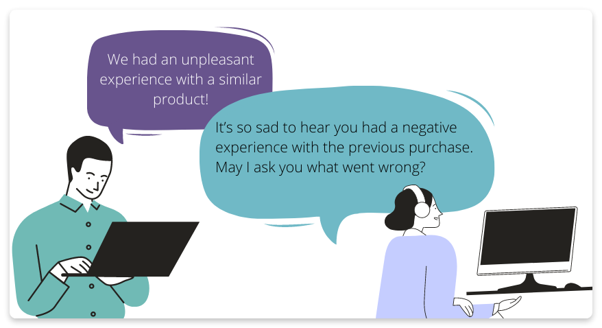 Sales objection about trust
