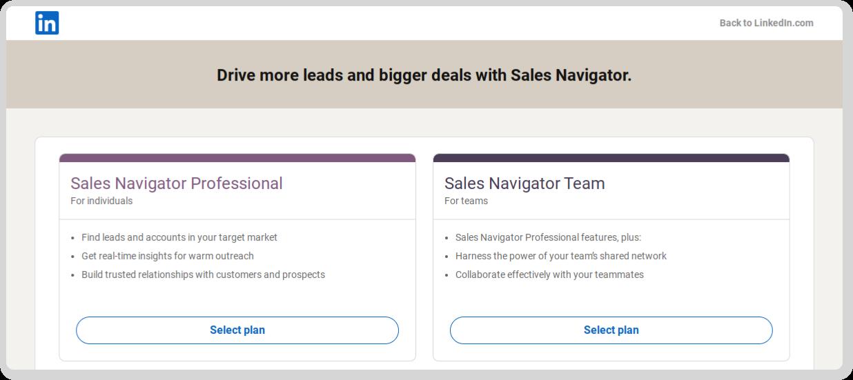 How do I access LinkedIn Sales Navigator?