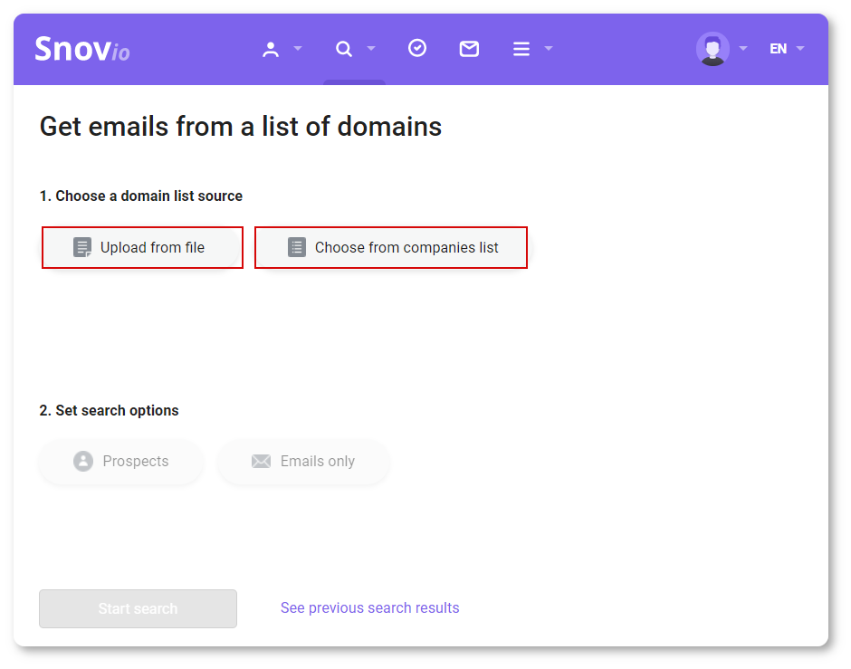 How to find prospect email addresses with Snov.io?