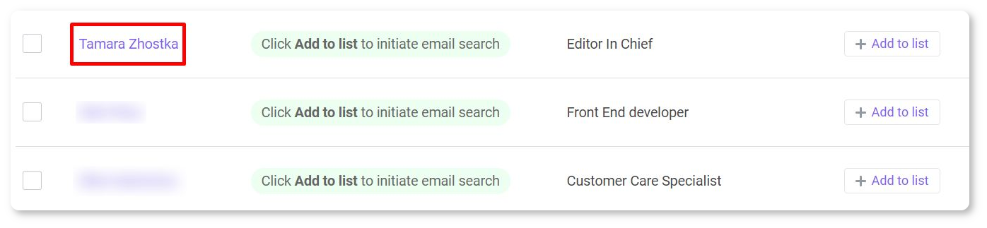 Use Email Finder extension