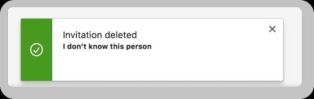 Invitation deleted
