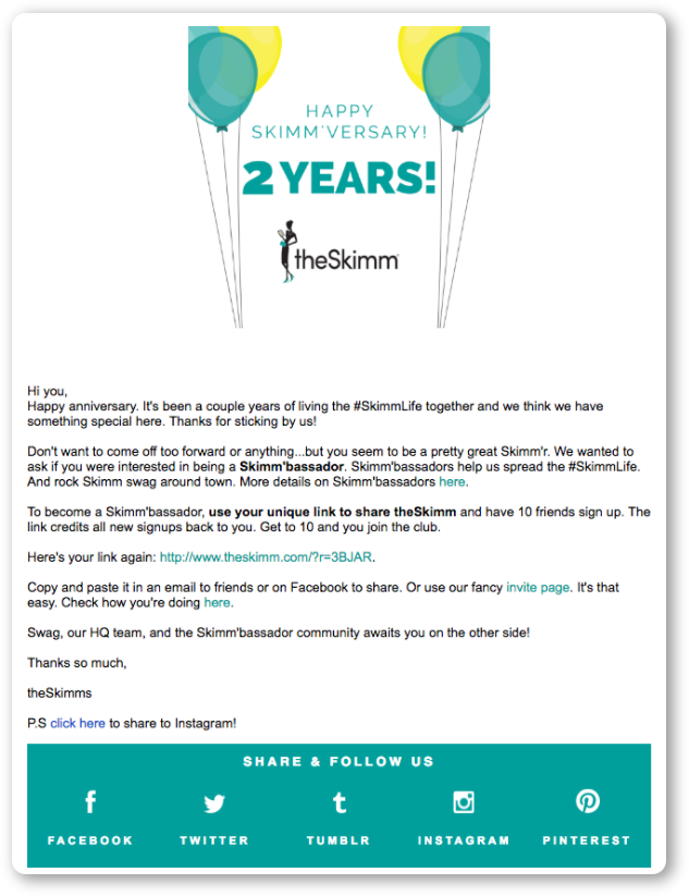 Lead-nurturing emails for older leads (repurchase)