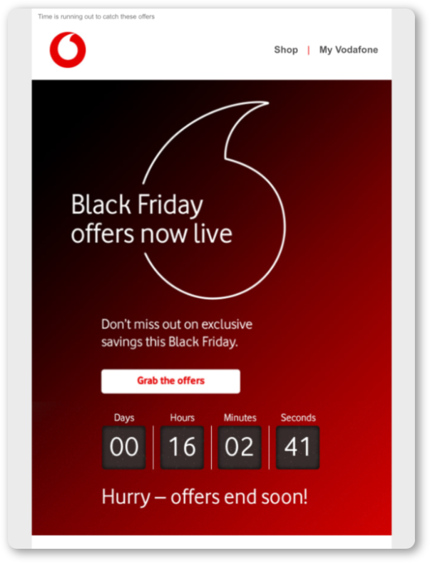 Add a countdown timer to your emails