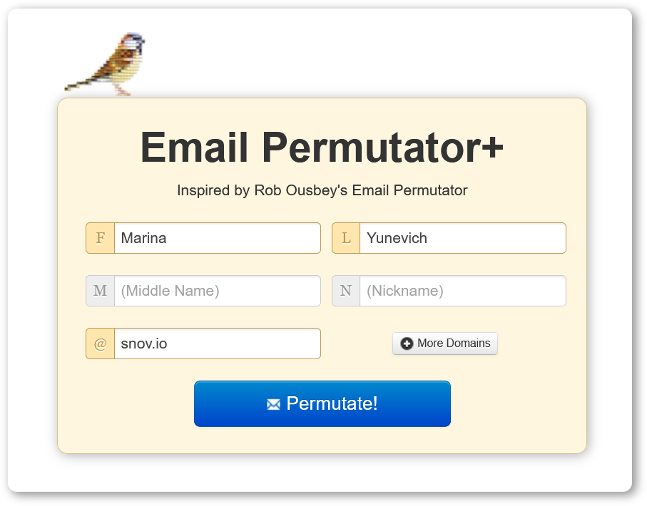 Free email address lookup