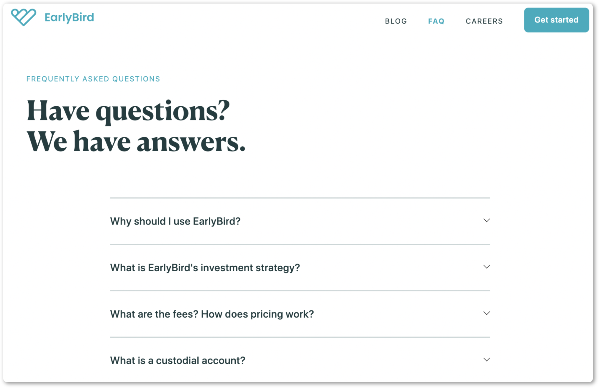 Add a FAQ page to your website