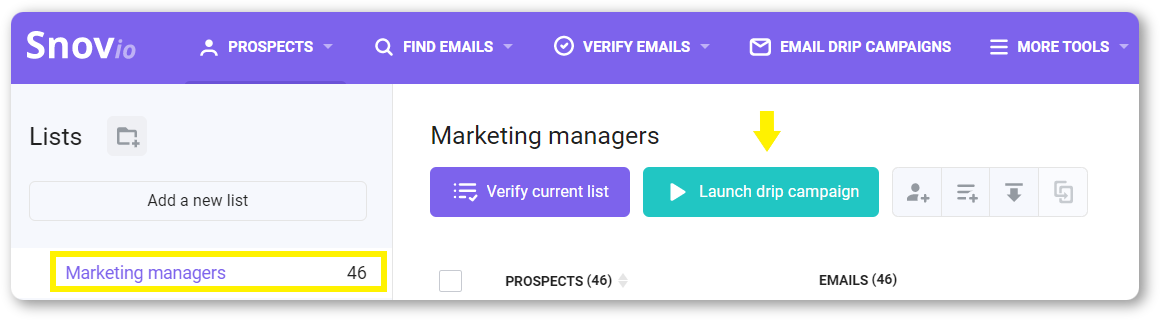 Launch an email drip campaign
