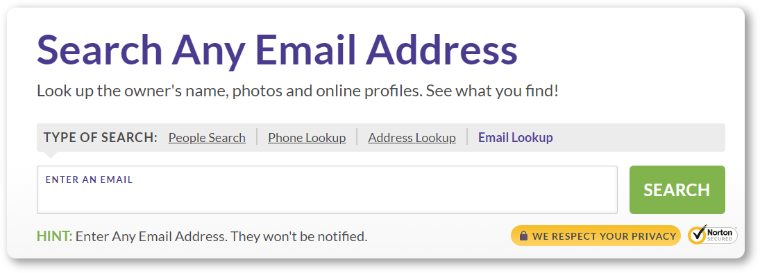 BeenVerified reverse email lookup tool