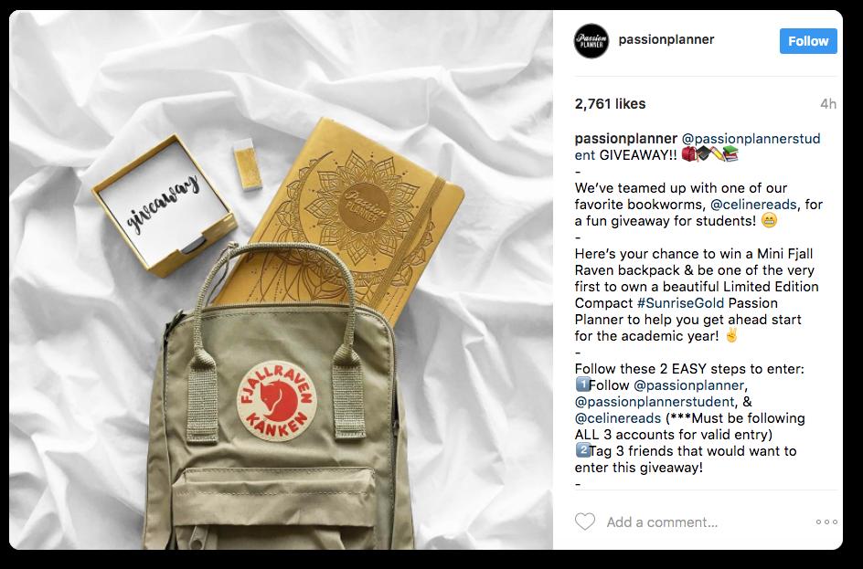 Social media giveaway idea