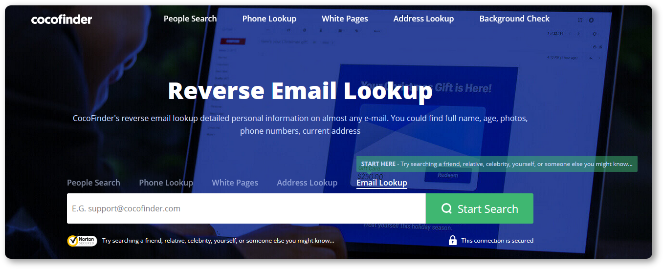 CocoFinder reverse email lookup tool