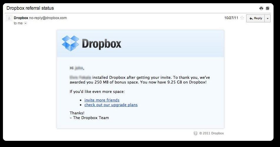 Dropbox referral strategy